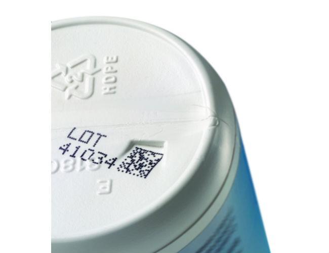 HDPE bottle-2上的CIJ 2D代码