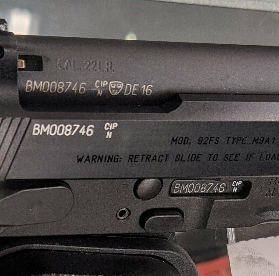 在枪上标记序列号